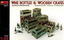 MiniArt 35571 Wine Bottles & Wooden Crates - Zubehör Kisten Flaschen - 1:35