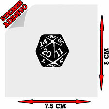 Sticker Adesivo Decal i'm The Dungeon Master D&D Dado D20 Auto Moto Tuning