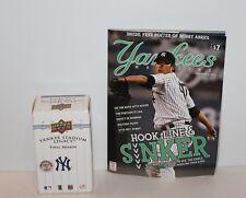 2008 Yankee Stadium Final Season Upper Deck 100 Card Set + June 2008 Yankee Mag
