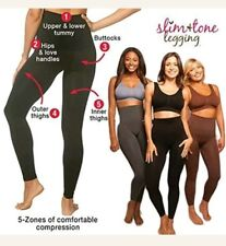 Women high Waist Slim & tone Leggings Sport Gym Slimming Compression 3XSize