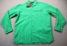 Under Armour UA Fish Hunter Mens Green Plaid Checker UPF50+  LS Shirt  S  $75