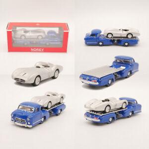 NOREV 1:64 Mercedes-Benz W196R + Mercedes-Benz RennTransporter Diecast model car