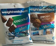 WEIGHT WATCHERS WHITMANS COCONUT & PECAN CROWNS CHOCOLATE CANDY  (2 BAG LOT)