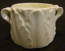 """Vintage Royal Worcester Blush Ivory Fern Leaf Handled Cup Bowl 2"""" x 3"""" Excellent"""