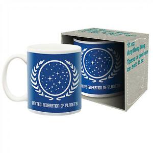Star Trek United Federation of Planets Ceramic Mug Multi-Color