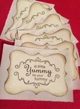 made by labels (8) Yummy For Your Tummy Baked Goods Baking Stickers Tags