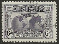 PRE-DECIMAL  1931  6d  PURPLE   SIR CHARLES KINGSFORD SMITH  CTO & FULL GUM MINT