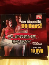Supreme 90 Day System 10 Dvd Set Tom Holland Complete Body Workout As Seen on Tv