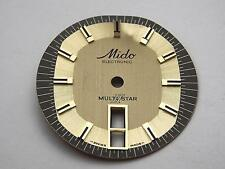 30mm Mido Electronic Multi Star Vintage Mens Watch Dial Two Tone Day Date Window