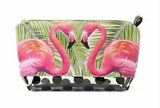 Tri-Coastal Design Flamingo Cosmetic Bag 6.5x11.3.5 Fashionable Fun NWT