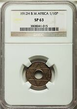 1912 H British West Africa 1/10 Penny Specimen Proof NGC SP 63 Very Rare