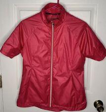 Sunice Pink Women's Small Full Zip Short Sleeve Golf Jacket Active Wear GREAT