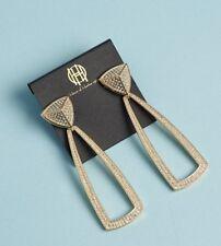$115 House of Harlow 1960 Mesa Door Knocker Earrings Rachel Zoe Box Style Gold