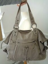 FAB TOPSHOP EXTRA LARGE STONE BEIGE 100% LEATHER TOTE SLOUCH SHOPPER BAG  🌼