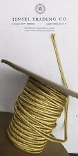 "2 yds Vintage Antique French Gold Metallic Soutache Braid Trim 3/16"" Military"