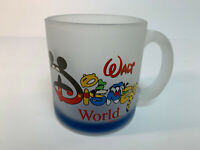Vintage Walt Disney World Character Spell Out Frosted Mug - Collectors Glass USA