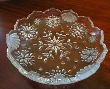 Clear Glass Floral Candy Dish