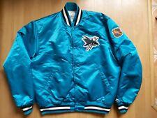 Vintage 1980s Starter San Jose Sharks NHL Hockey Satin Bomber Jacket Made in USA