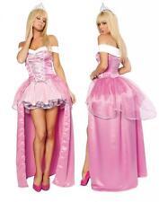 Sexy Kostüm Prinzessin Rosa mit Schicht Kostüme Karneval Halloween T.Einzig