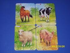Larsen Puzzle 4 Mini Puzzle Tiere auf dem Bauernhof V1