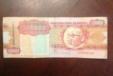 1991 Angola $500,000 Kwanzas Quinhentos Mil Kwanzas Ungraded Circulated Currency