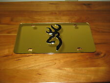 Browning license plate/ Laser cut 3D Inlaid Tag