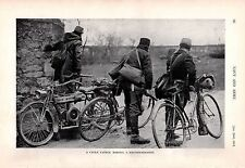 1915 WWI ~ CYCLE PATROL RECONNAISSANCE BIKES DOUGLAS MOTORCYCLE TROOPS RIFLES