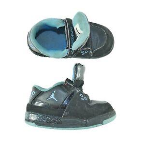 Nike Jordan Flight 23 Toddler Size 7C Mid Top Sneaker Black Blue Basketball