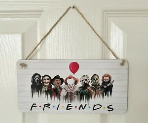 Horror Movie Pennywise & Friends Wooden Hanging Plaque Sign - Gift