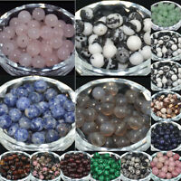 4MM 6MM 8MM 10MM Wholesale Lot Natural Stone Gemstone Round Spacer Loose Beads