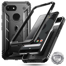 Google Pixel 3 XL Case  Hybrid Armor Shockproof Cover [w/Stand] Black