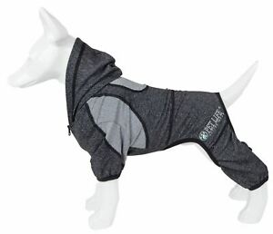 Pet Life 'Fur-Breeze' Quick-Dry w/ 4-Way Stretch Full Body Hooded Dog Tracksuit