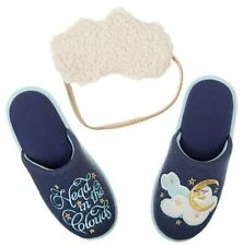 New Dearfoams Womens Slippers & Mask Set Size Large 9-10 Head In The Clouds