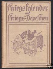 Kriegs-Kalender und Kriegs-Depeschen, 1915