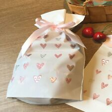 HEART GIFT BAGS WITH DRAWSTRING FOR HANDMADE BAKING CANDY SOAP JEWELRY PACKAGING
