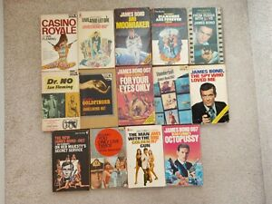 Collection of James Bond film tie-in edition books, Ian Fleming