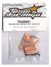 RC Team Durango TD220001 Balancing Weight Set DEX410 DESC410R v2 v3 v4 BUGGY NIB