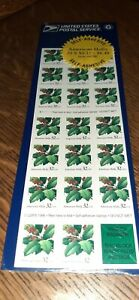 NEW/Sealed US 6678E Pane of 20 AMERICAN HOLLY STAMPS 32 Cent Face Value