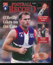 1995 AFL Football Record Fremantle Dockers v Geelong Cats April 21 unmarked