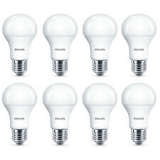 8x Philips LED Frosted E27 75w Warm White Edison Screw Light Bulbs Lamp 1055Lm