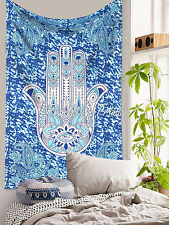 Hamsa Hand  Tapestry Wall Hanging Indian Hippie Bedspread Decorative Twin Throw