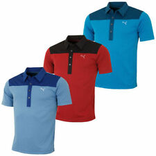 PUMA Polyester Short Sleeve Golf Shirts & Sweaters for Men