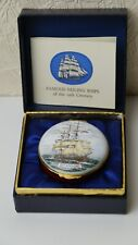 Antique English Enamel Box Authentic Certificated Limited Edition By Crummles
