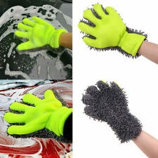 1PC Car Washing Microfiber Chenille Finger Mitt Auto Cleaning Gloves Dust Washer
