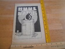 The Bool Dawg Albert Richard Stockdale comedy art magazine VINTAGE 1920s RARE b