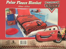 Cars Lighting Mcqueen Large Soft Polar Fleece Throw Rug Blanket | Disney Pixar