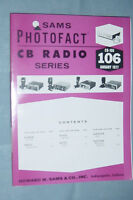SAMS PHOTOFACT CB RADIO SERIES VOLUME #106 JANUARY 1977 ALARON KRACO NUVOX ROYCE