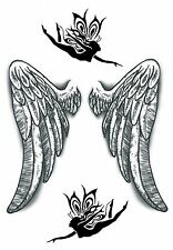 Angel Wings 2 Temporary Fake Tattoos  Protection Love Lost Body Art Transfer
