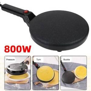 20cm 800W Non Stick Electric Crepe Maker Baking Pancake Frying Griddle Machine