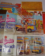 Vintage Barbie Lot Accessories Decals + Beach Bus Country Living Home +